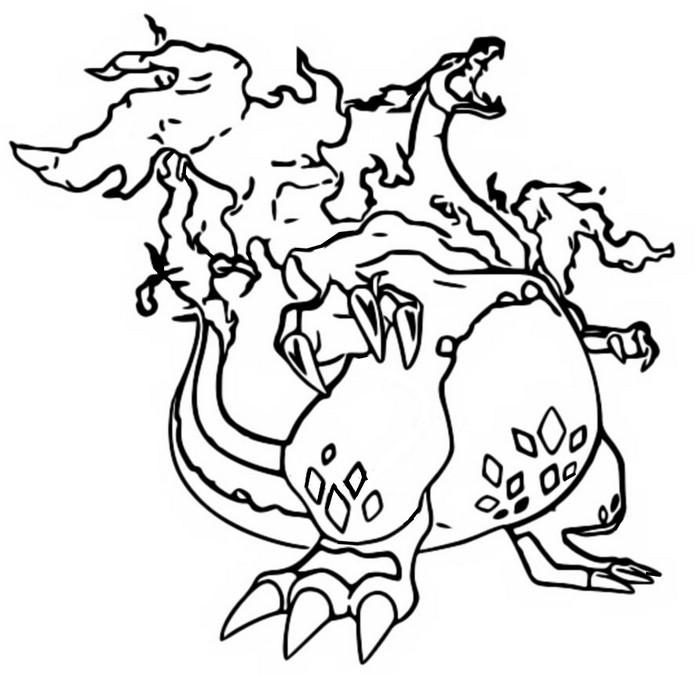 coloring page gigantamax pokmon gigantamax charizard 5