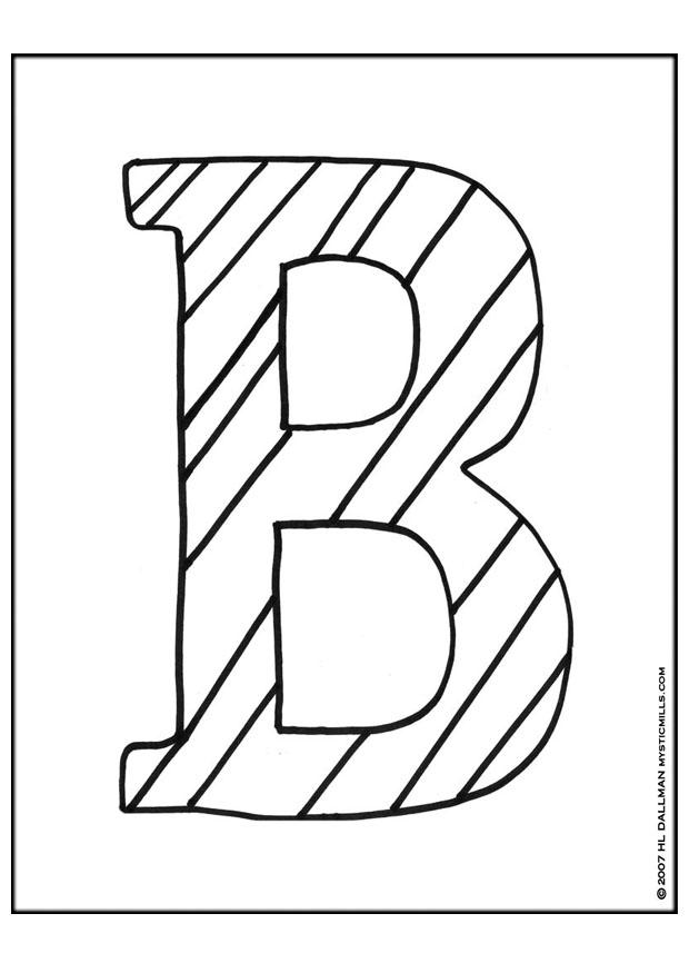 coloring page letter b free printable coloring pages
