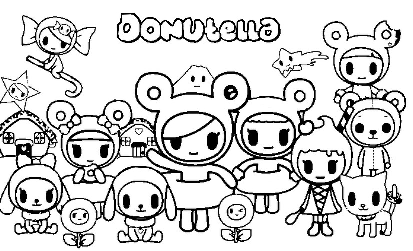 coloring page tokidoki donutella 8