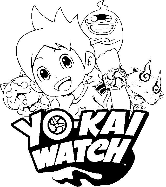 coloring page yo kai watch yo kai watch 3
