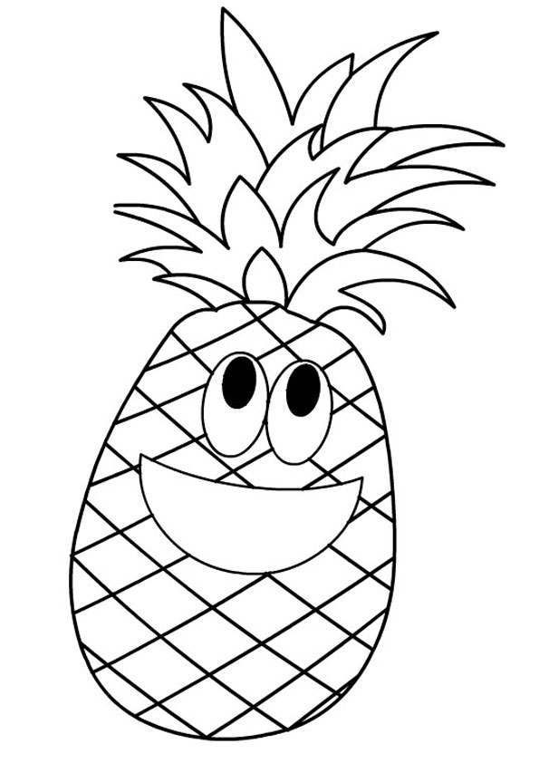 coloring pages animated pineapple coloring page