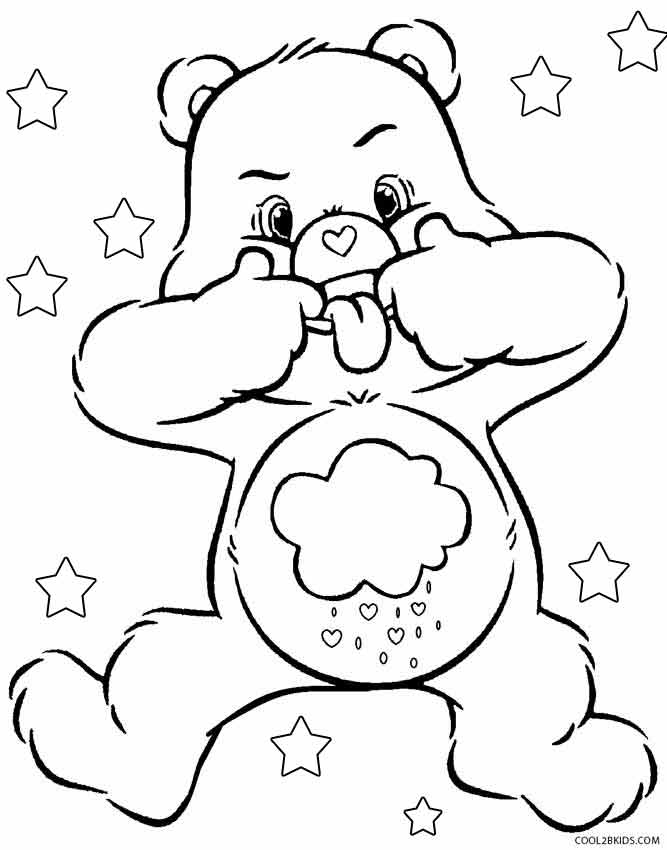 coloring pages care bears printable gallery fun for kids