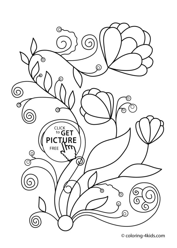 coloring pages cartoon flower coloring pages spring