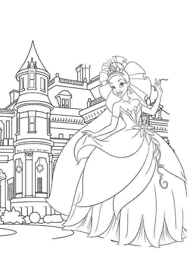 coloring pages castles princesses princess coloring pages