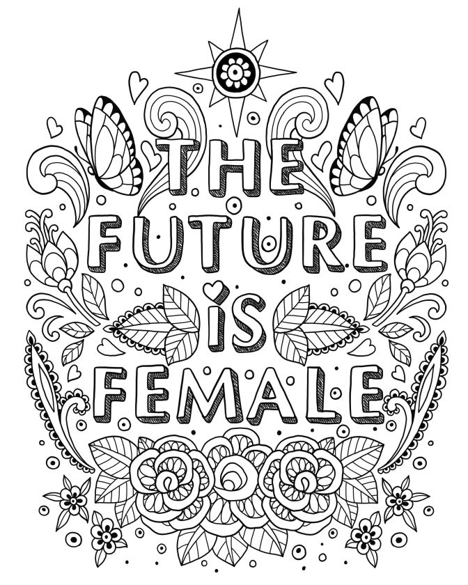 coloring pages coloring pages free feminist printing games