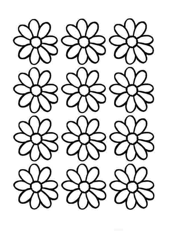 coloring pages daisy flowers huangfei