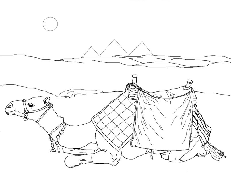 coloring pages desert coloring best for kids egyptian