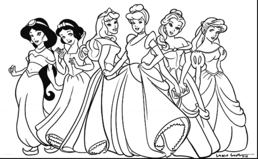 coloring pages disney princess coloring pages to print for