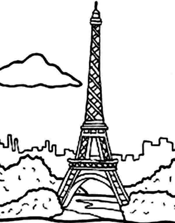 coloring pages eiffel tower paris paris france eiffel tower