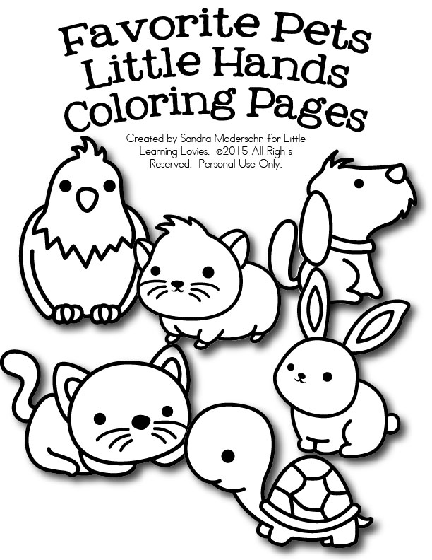 coloring pages favorite pets for little hands free for now