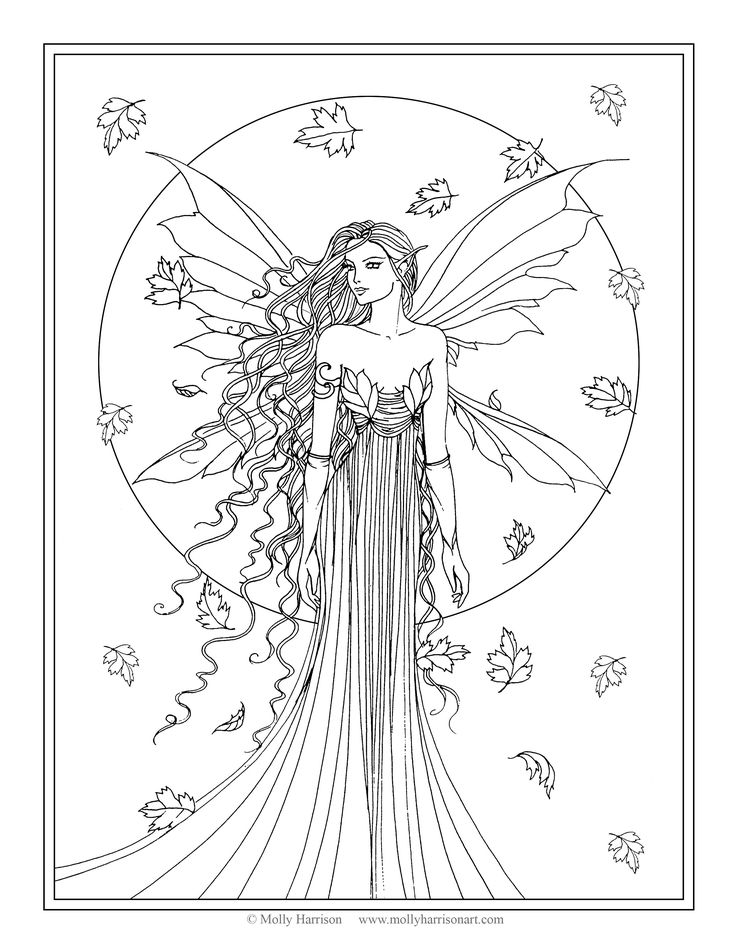 coloring pages for adults fairy at getdrawings free