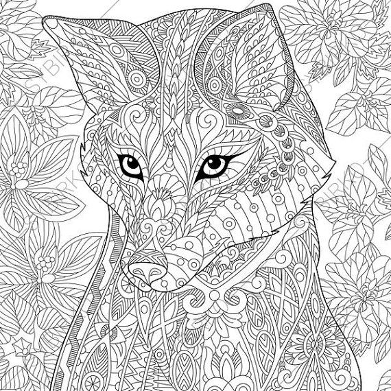 coloring pages for adults fox wild fox adult coloring