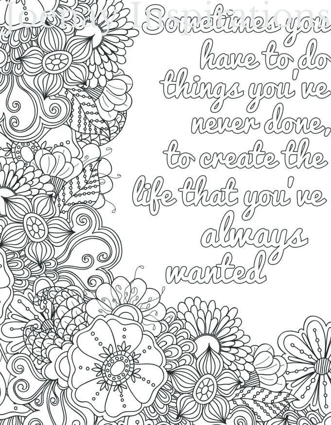 coloring pages for adults printable quotes
