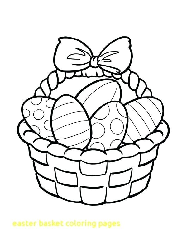 coloring pages for easter basket easter basket coloring page