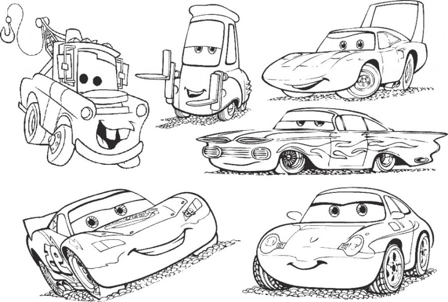 coloring pages for kids cars 3