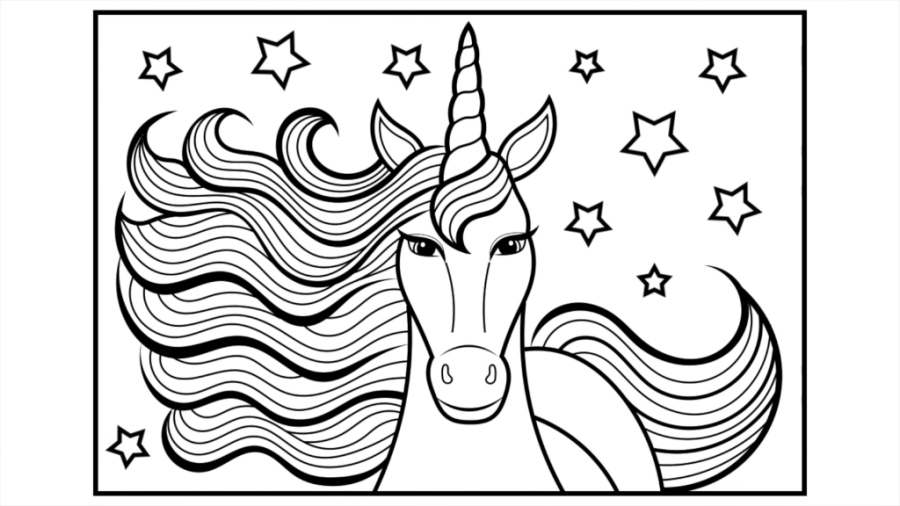 coloring pages for kids unicorn before color scheme palette