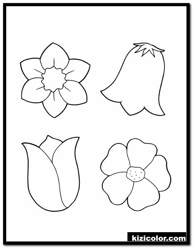 coloring pages for spring flowers 6 spring flower coloring