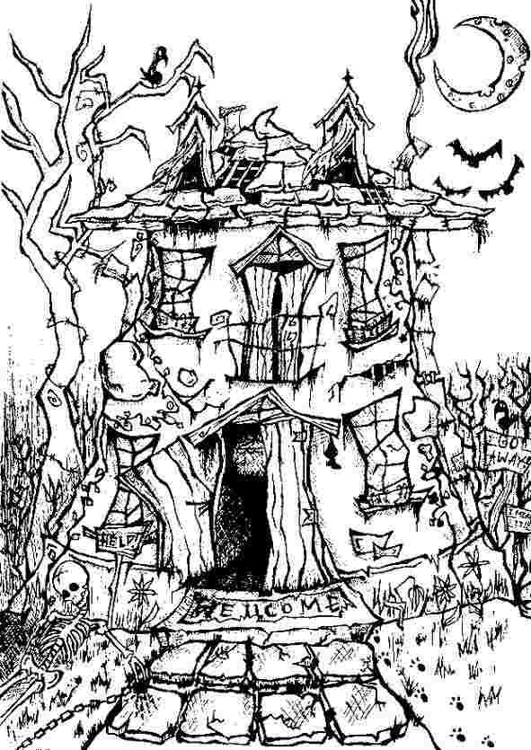 coloring pages halloween scary october 2013 team colors