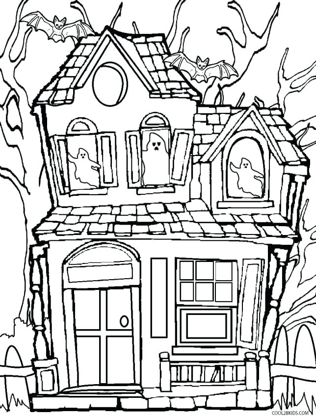 coloring pages haunted house lawyersforcaraccidents