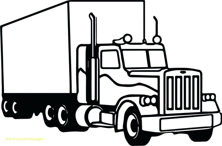 coloring pages ideas awesome semi truck coloring pages