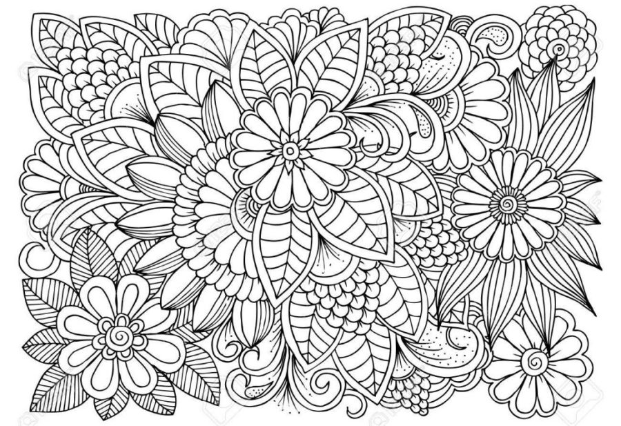 coloring pages ideas coloring flower pattern colouring