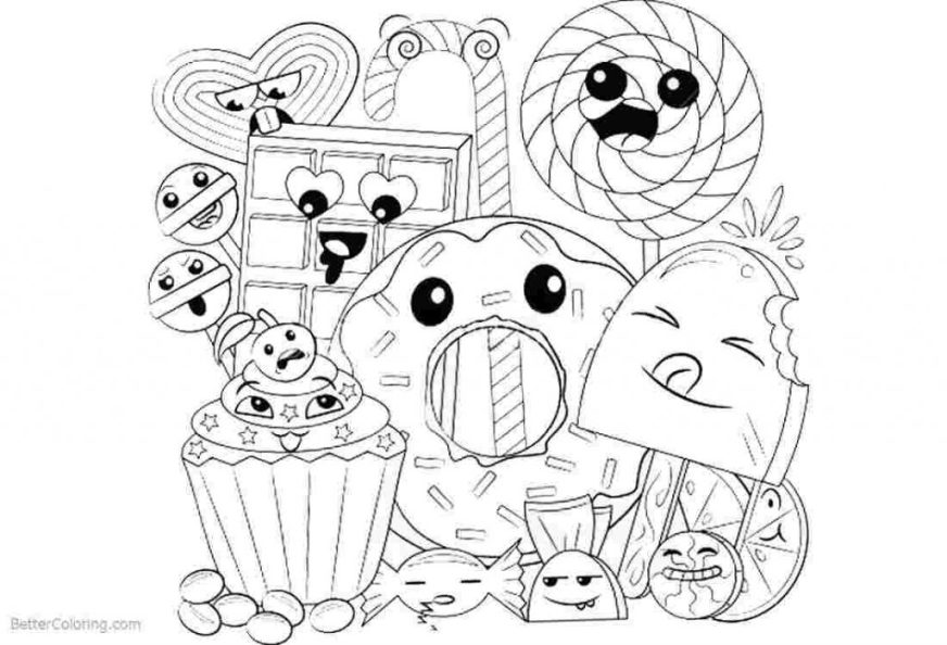 coloring pages ideas coloring pages ideas kawaii food page