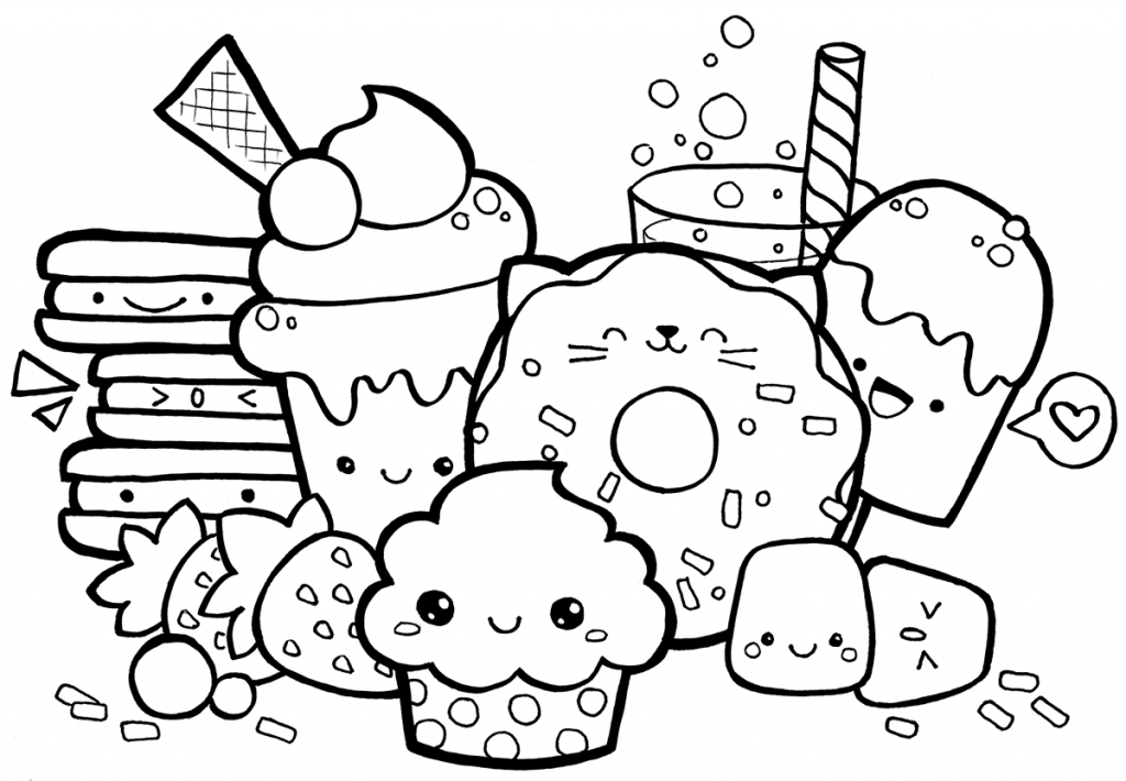 - Cute Food Coloring Pages Collection - Whitesbelfast
