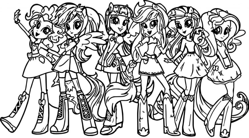 coloring pages ideas free equestria girls coloring pages