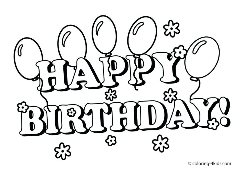 coloring pages ideas free happy birthday coloring pages