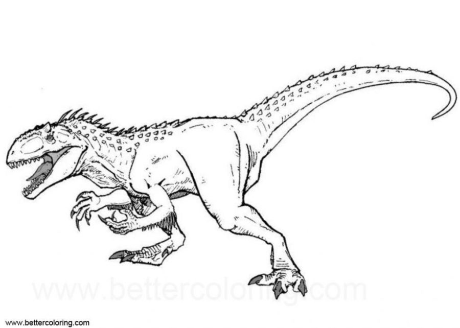 coloring pages ideas indoraptor coloring pages image