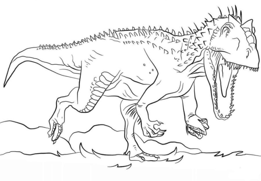 coloring pages ideas indoraptor coloringes dinosaur online