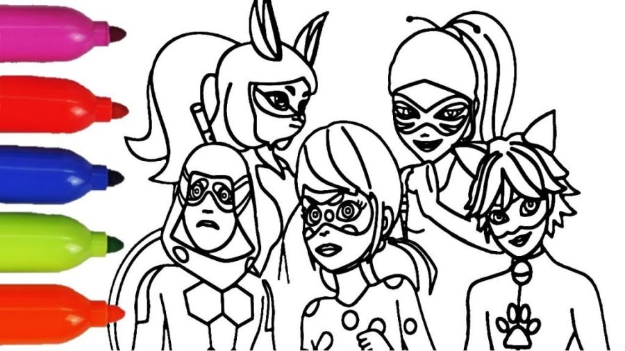 coloring pages ideas miraculous ladybug season marinette