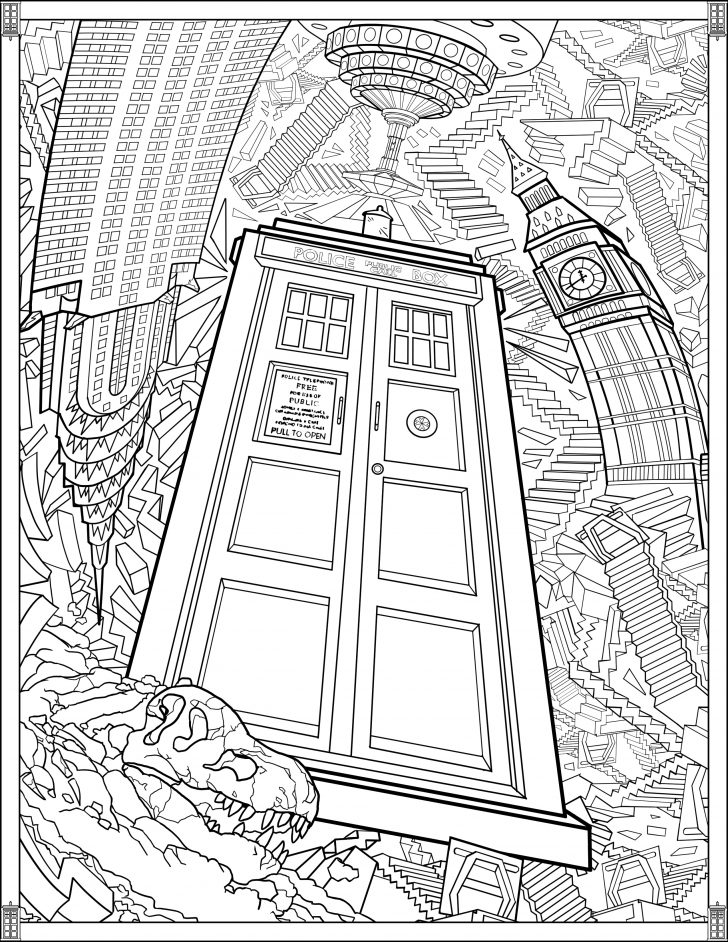 coloring pages ideas stunning doctor who coloring pages