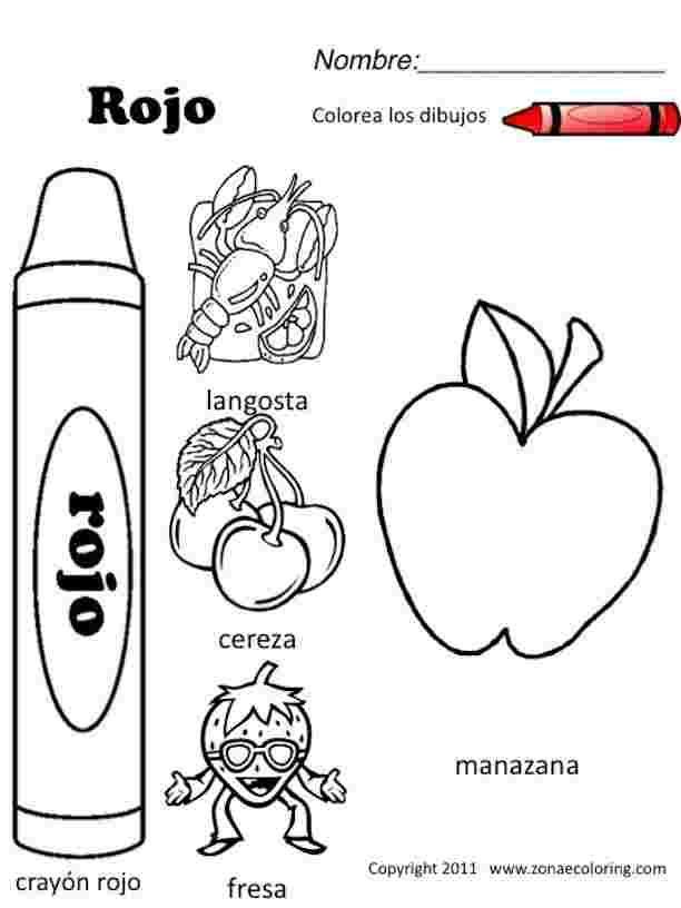 coloring pages in spanish with words free spanish coloring
