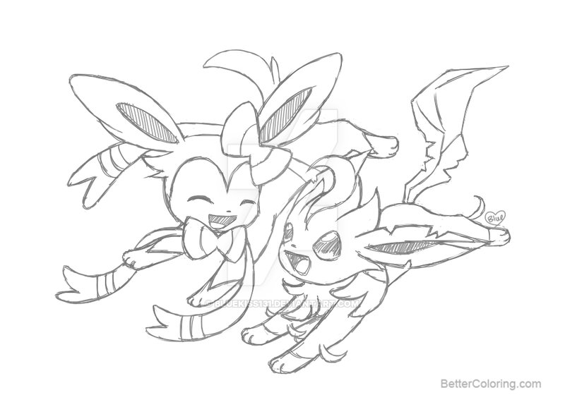 coloring pages leafeon pokemon go printable druscoloring