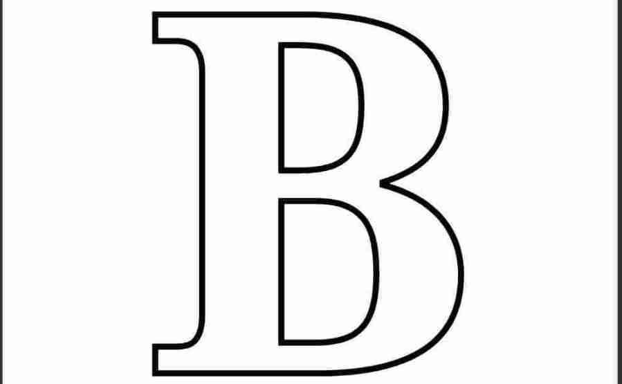 coloring pages letter b preschool letter b coloring pages