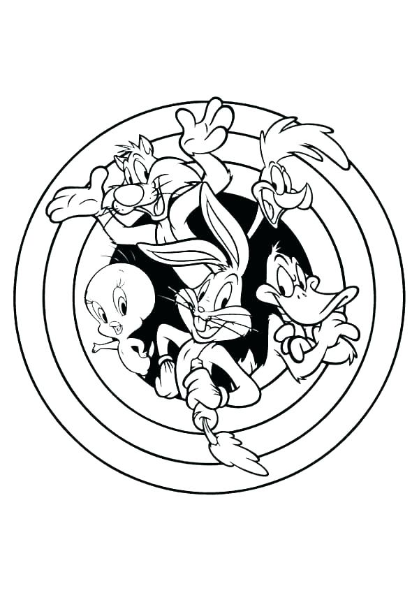 Luny Tunes Coloring Pages Ideas Whitesbelfast