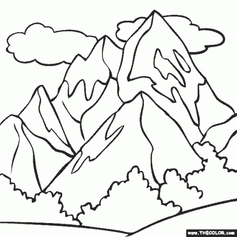coloring pages of a mountain at getdrawings free for