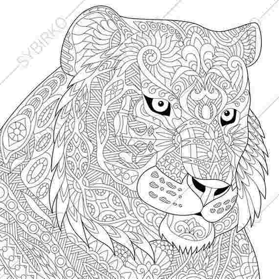 coloring pages of animals tigers huangfei