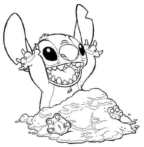 coloring pages of ba stitch lilo is on the phone in lilo