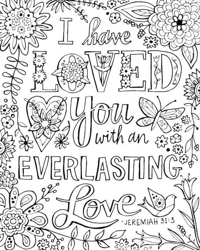 coloring pages of bible verses