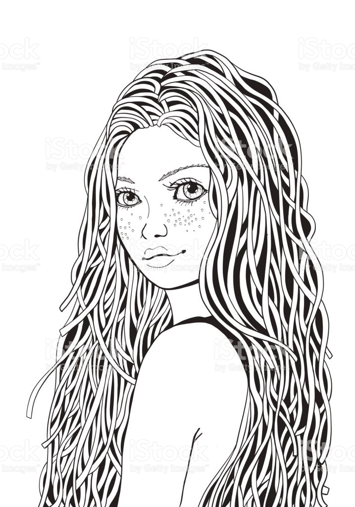 coloring pages of black girls