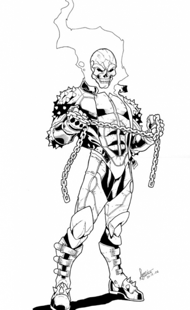 coloring pages of ghost rider