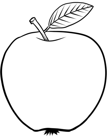 coloring pages of red apple apple coloring page free