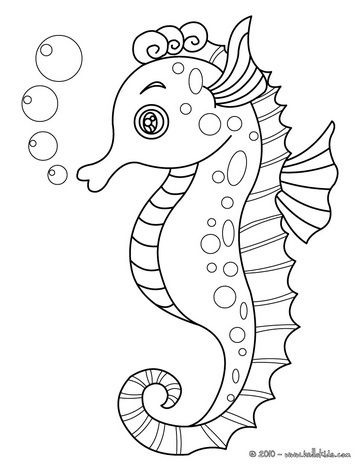 coloring pages of sea horses google search animal