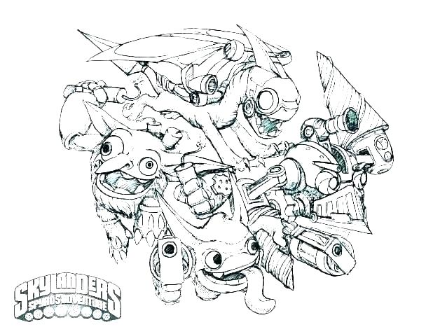 coloring pages of skylanders colouring printable