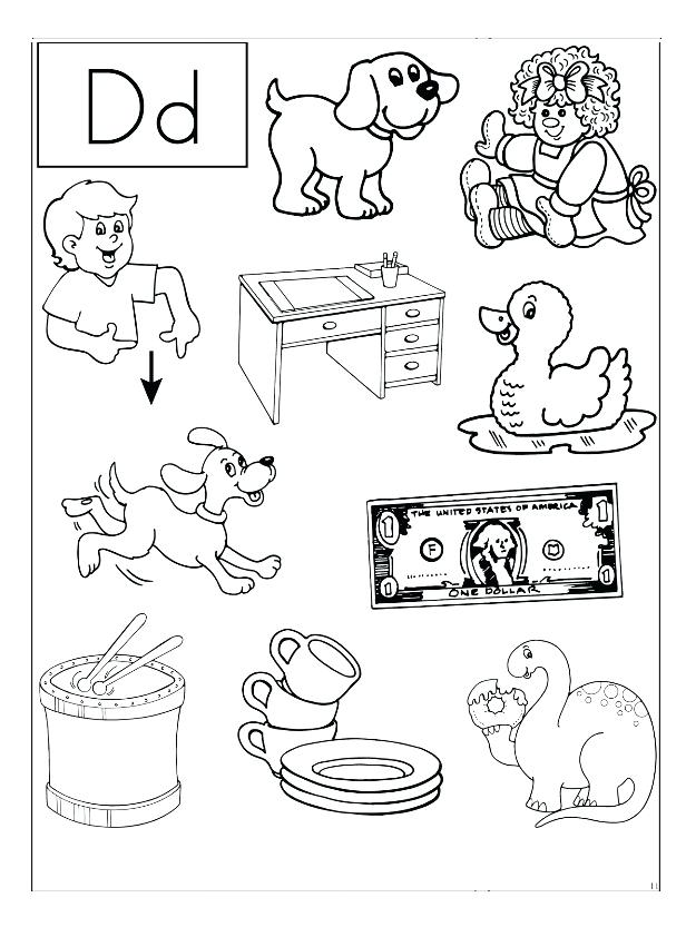 coloring pages of the letter d at getdrawings free for