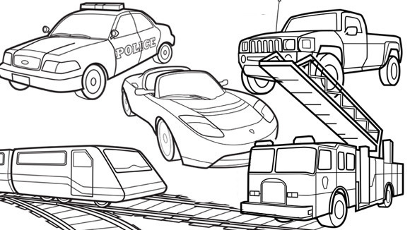 coloring pages of vehicles