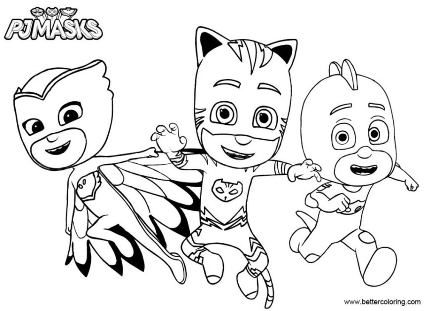 coloring pages pjkks games nick jr disney gecko youtube