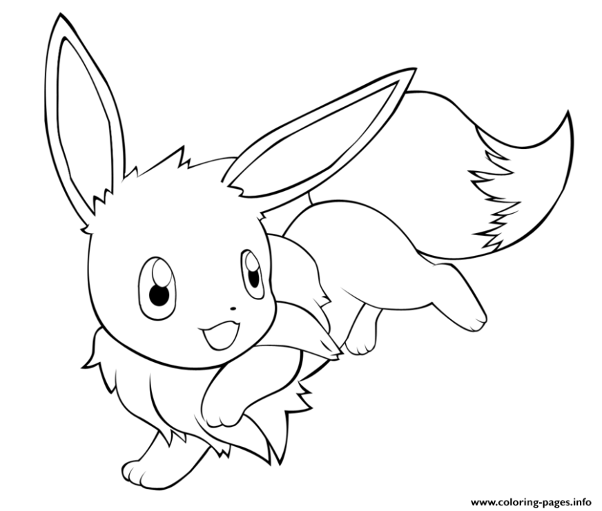 coloring pages pokemon eevee berbagi ilmu belajar bersama